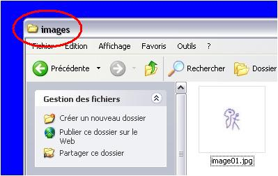 Dossier images - Windows